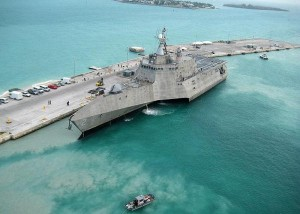 The first-of-class USS Independence moored in Florida. U.S. Navy photo by Naval Air Crewman 2nd Class Nicholas Kontodiakos.