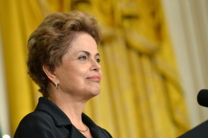 President Dilma Rousseff of Brazil speaks during a joint press conference with President Barack Obama in the East Room at the White House in Washington, D.C. on June 30, 2015. Photo by Kevin Dietsch/UPI. | License Photo