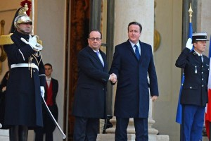 British Prime Minister David Cameron, seen here with French President Francois Hollande on Nov. 23, urged British parliament to extend airstrikes agains the Islamic State in Syria. Photo by David Silpa/UPI | License Photo