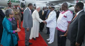 Pope Francis arrives in Kenya on first trip to Africa