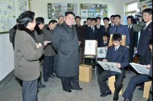 Kim Jong Un visiting art students in Pyongyang. North Korea's propaganda arm works meticulously to manipulate public images of the state, according to a Russian filmmaker who is under pressure after exposing North Korea's reality. File Photo by Yonhap