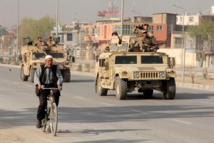 A bomb near the Kabul, Afghanistan, airport killed one civilian an injured 31 others on Monday. File photo by UPI | License Photo