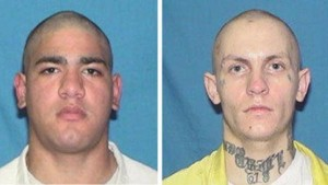 Kevin Rivera, left, and Jerrette Reed escaped a minimum security Illinois prison Sunday. Photo from Illinois Department of Corrections