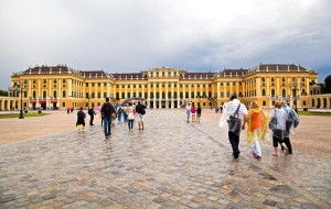 Entrance into the Schonbrunn Palace in Vienna, Austria. City authorities received an anonymous threat before Christmas warning of possible terrorist attacks in major European capitols. Photo by photosmatic/Shutterstock