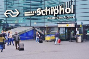 Check-in areas were closed and passengers fled, some leaving baggage behind, after a man started shouting bomb threats at Schiphol Airport in the Netherlands. Photo by EQRoy/Shutterstock