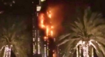 Fire engulfs Dubai tower near NYE fireworks; Officials say injuries minor, party unaffected