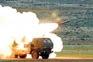 Lockheed Martin's High Mobility Artillery Rocket System carries a single six-pack of rockets, and is designed for deployment into areas normally not accessible to heavier launchers. Photo by Spc. Adam L. Mathis