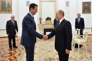 Russian President Vladimir Putin suggested that he may grant asylum to Syrian President Bashar al-Assad if the besieged leader were to flee the country wracked by civil war. Both Assad and Putin have previously said a political solution is needed to end the Syrian civil war. Photo courtesy of the Kremlin