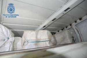 Spain's National Police worked with the U.S. Drug Enforcement Administration agency and the U.K.'s National Crime Agency to intercept the van carrying 1500 pounds of cocaine. Photo courtesy of Policía Nacional