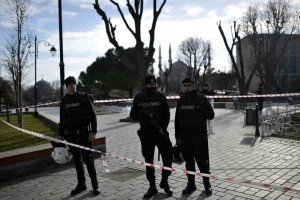 Turkey has arrested nine people, including three Russians, suspected of being Islamic State members following a suicide bomb attack in Istanbul that killed 10. Police conducted raids in Antalya and in İzmir, which led to the arrests. Photo by Ali Turkel/UPI | License Photo
