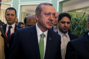 Turkish Prime Minister Recep Tayyip Erdogan, seen here in 2014, cited Adolf Hitler's reign over Nazi Germany as a historic example of presidential leadership. Erdogan is pushing for a presidential form of government and a new constitution. File Photo by Maryam Rahmanian/UPI | License Photo