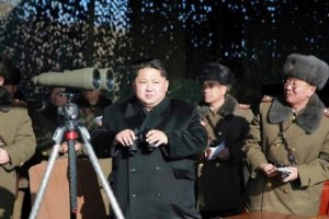 Pyongyang's state-controlled media outlet KCNA reported Tuesday, local time, Kim inspected a shooting competition held by the Korean People's Army, his first military activity of 2016. File Photo by Yonhap