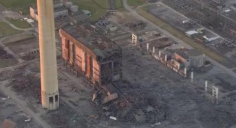 One person killed in power station collapse in England