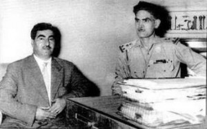 Mustafa Barzani with Abd al-Karim Qasim 1958.Wikipedia photo