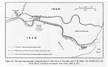 Borders of Shatt al-Arab between Iraq and Iran Signed6 March 1975. Wikipedia photo.