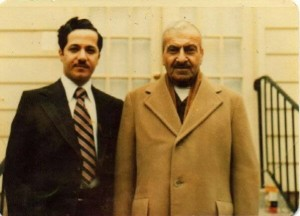 MUSTAFA BARZANÎ - 1903 - 1979 www.saradistribution. Father & Son Mustafa & Masoud Barzani, short before the death 1979, in US