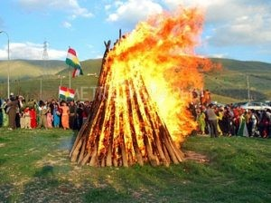"Kurds around the world celebrating the New Kurdish year ""NEWROZ'. Photo: UKS"