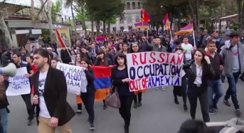 Armenians protest against Russian arms sales to Nagorno-Karabakh