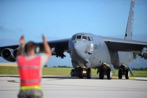 US-Air-Force-B-52-bomber-crashes-in-Guam-crew-escapes-injury