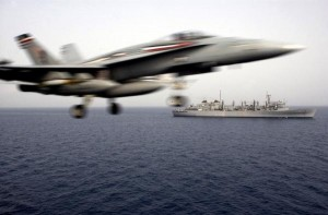 USS Harry Truman launches airstrike against Islamic State from the Mediterranean Sea