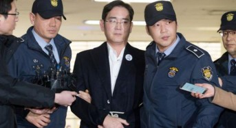 Samsung head denies bribery charge in court