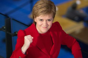 """Scottish National Party leader Nicola Sturgeon was given approval by Scottish Parliament on Tuesday to negotiate on a second independence referendum, known as """"indyref2."""" The support paves the way to open formal talks with the British government. Photo by Robert Perry/European Pressphoto Agency/File"""