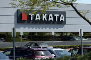 Japan-based auto parts manufacturer Takata Corp. filed for bankruptcy protection in the united states and Japan, it announced Monday. The beleaguered company is under financial pressure for millions of defective air bag inflators installed in vehicles. Photo by Jeff Kowalsky/EPA