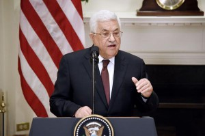 President Mahmoud Abbas of the Palestinian Authority speaks at the White House in Washington, DC, on May 3, 2017. On Sunday, Abbas sharply criticized the United States' and Israel's handling of ongoing peace talks. File Photo by Olivier Douliery/UPI | License Photo