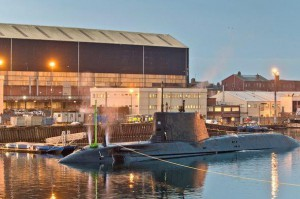 Britain's newest nuclear-powered submarine, the HMS Audacious, successfully completed its first dive on Monday at the Barrow, England, facility where it was built. Photo courtesy of BAE Systems