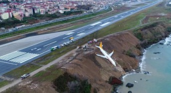 Plane skids off Turkish runway, stopping feet from plunging into Black Sea
