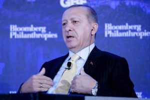 "A spokesman for Turkish President Recep Tayyip Erdogan, pictured here, condemned plans by the U.S.-led coalition to establish a 30,000-member ""Syrian Border Security Force"" as ""concerning."" Photo by John Angelillo/UPI 