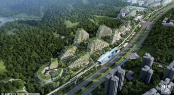 The city of trees: China creates world's first Forest City where all buildings are covered in a million plants to tackle global warming and air pollution