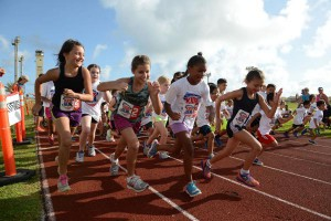 New research suggests fit children have healthier lungs later in life. Pictured, children begin the America's Kids Run on May 25, 2015, at Andersen Air Force Base, Guam. Photo by Airman 1st Class Joshua Smoot/U.S. Air Force