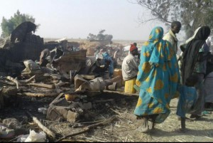 A military base and refugee camp in Rann, Nigeria, pictured after a bombing in 2017, was the site of a Boko Haram attack Thursday that killed three U.N. workers. File Photo courtesy Doctors Without Borders