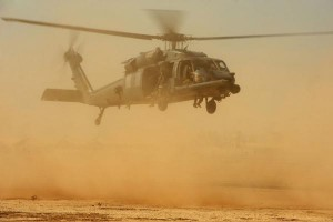 An HH-60 Pave Hawk helicopter, similar to the one pictured, crashed in western Iraq on Thursday. File Photo by Andy M. Kin/U.S. Air Force   License Photo