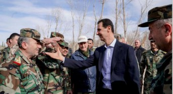 Assad visits Syrian troops after retaking of Eastern Ghouta