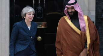 Saudi crown prince's visit to Britain marked by protests over Yemen crisis