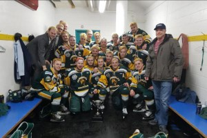 "This photo of the Humboldt Broncos junior hockey team was posted on March 24 on Twitter after a ""big win."" On Friday, a bus carrying the team collided with a truck in Saskatchewan, killing at least 14 and injuring 14 others. Photo by Humbolt Broncos/Twitter"