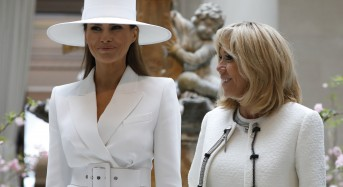 The French first lady says Melania 'can't even open a window' at the White House