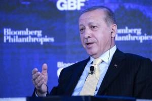Turkish President Recep Tayyip Erdogan said Wednesday presidential and parliamentary elections will be moved from November 2019 to June 24 of this year. File Photo by John Angelillo/UPI | License Photo