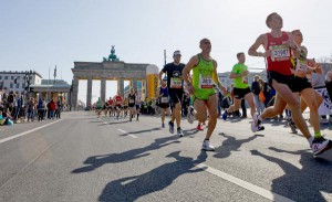 Police in Germany foiled a plot to carry out a knife attack on the Berlin Half Marathon Sunday. Photo by Hayoung Jeon/EPA