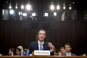 Facebook CEO Mark Zuckerberg testified during a Joint Senate Judiciary and Commerce Committee hearing on Facebook, social media privacy, and the use and abuse of data, on Capitol Hill in Washington, D.C. on Tuesday. Photo by Kevin Dietsch/UPI | License Photo