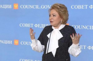 "Russian lawmaker Valentina Matvienko said Wednesday any Russian response to economic sanctions by the United States will be ""precise, painful and without question sensitive."" Photo courtesy Russian Federation Council"