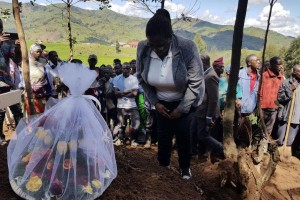 At least 18 people died in the Karongi District in Rwanda Sunday in a landslide caused by heavy rains. Photo courtesy of Ministry of Disaster Management and Refugees/Twitter