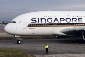 Singapore Airlines said it will launch the world's longest flight -- a 19-hour jaunt from Singapore to the New York City area -- later this year. FIle photo by Guillaume Horacajuelo/EPA-EFE