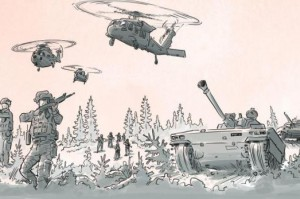 The Swedish government's brochure has information about what to do in dangerous scenarios, including military attack. Photo courtesy government of Sweden