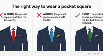 This is the one thing you should never do when wearing a pocket square, according to men's style experts