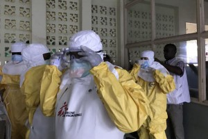 The World Health Organization said five new experimental Ebola treatments will only be used with patient consent. Photo by Louis Annaud/MSF/EPA-EFE