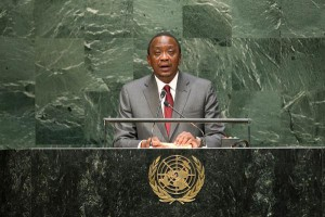 Kenyan President Uhuru Kenyatta urged Kenyans to confront corruption across all facets of life as he implemented a crackdown on government corruption Friday. File Photo by Cia Pak/United Nations