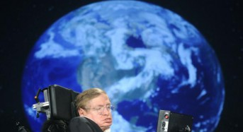 Stephen Hawking's voice sent into space toward a black hole